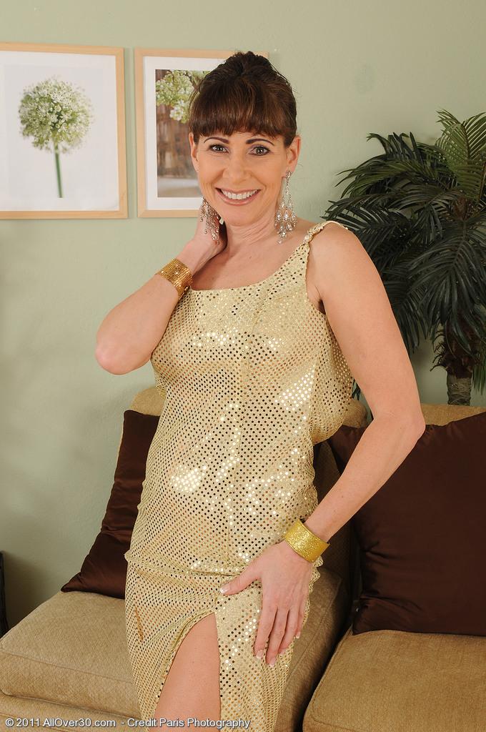 Elegant 47 Year Old Alexandra Silk Displaying off Her Taut  Older Babe Figure