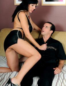 Huge Titted Alia from  Milfs30 Slides Her  Older Babe  Hoo Ha on Stiff Manhood