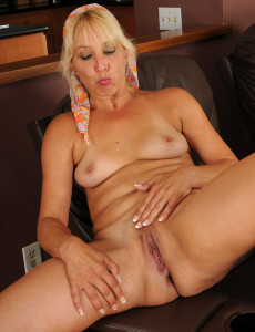 50 year old blond does anal - 3 1