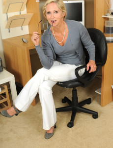 Blond Haired Office  Mom Shows off Her 55 Year Old Super Hot Body Here