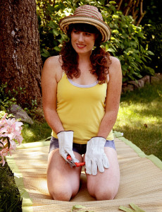 Redheaded 33 Year Old Ava Gets Tired of Gardening So  Undresses Instead