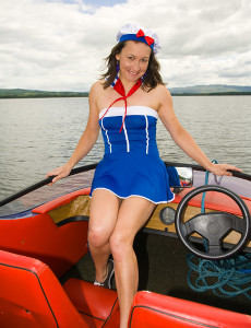 Wooly Pussied Carla from  Milfs30  Opens Her Gams While Sailing