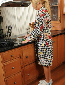 Wonderful  Blond Haired  Mom Christina  Takes off and Bares All in the Kitchen