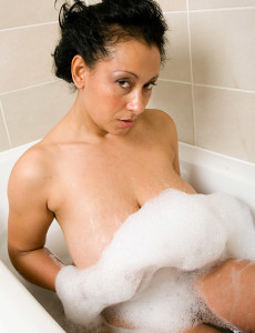 Exotic and  Older Danica Drenches Her Tight  Hoo Ha in the Bath