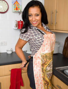 Alluring and  Big Breasted Danica from  Milfs30 Shows off in the Kitchen
