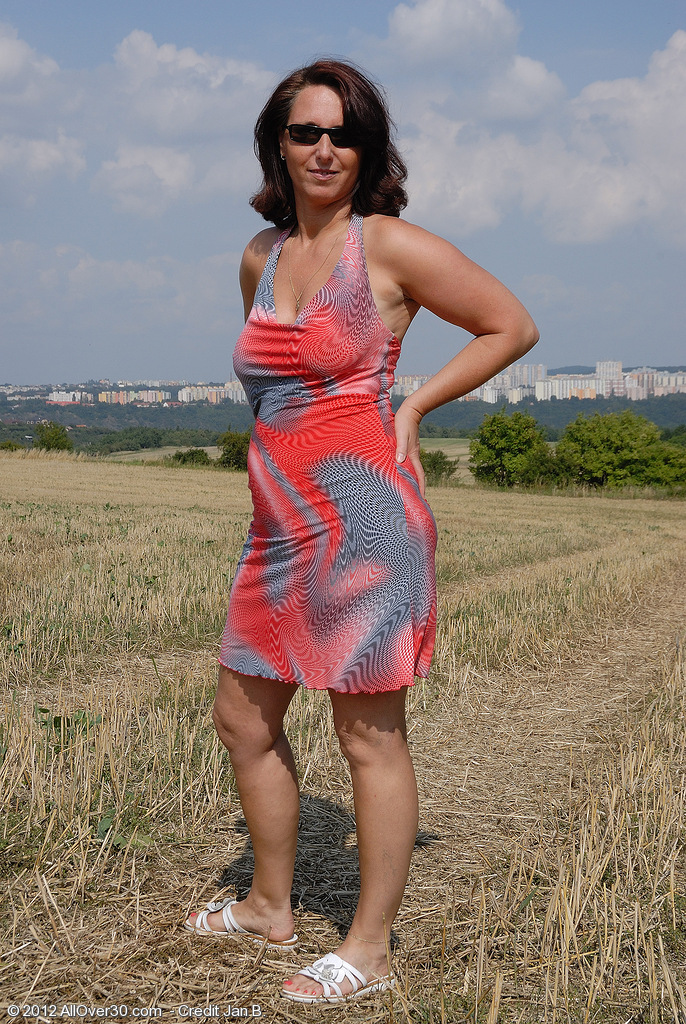 All  All  All Natural Titted Demi from  Milfs30 Plays Naturist out in the Farmers Sphere