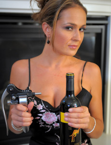 Hot 30 Year Old Elexis from  Milfs30 Liking a Bottle of Wine