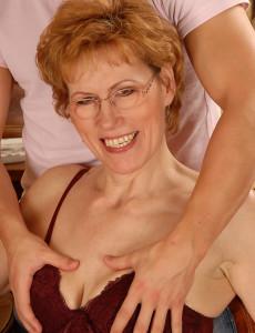 Georgina C Takes a Young Mand Hard Cock Deep Inwards of Her