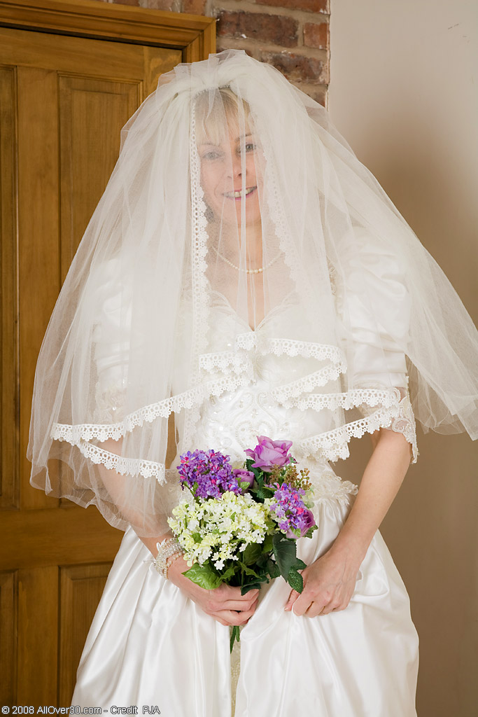 52 Year Old Hazel Pulls off Her Wedding Dress and  Opens Her  Rump