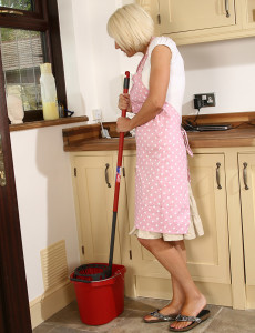 Hot  Wife Jan  Takes off off Her  Attire While Doing Her Chores