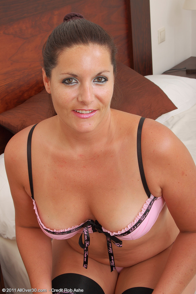 Brown Haired  Mom Lara Martinez Has Fun in and out of Her Slinky Panties