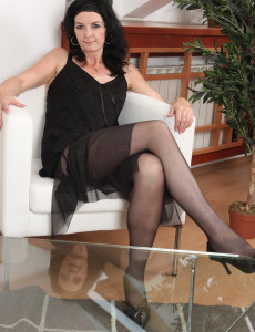 Mary-sue  Opens Removes Her Lacey  Lingerie and  Opens Her Gams
