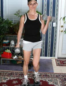 65 Year Old Wifey Kamilla Putting on a Very Sexy Strip