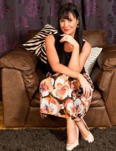 40 Year Old  Cougar Elise Summers Slides of of Her Elegant Dress Here