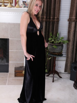 33 Year Old Opportunity from  Milfs30 Glides out of Her Elegant Ebony Dress