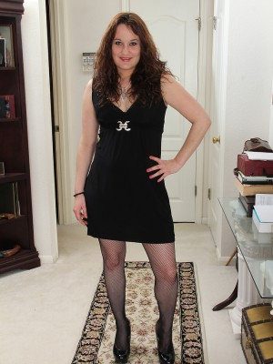 Wild Plus Elegant Belle Star Slides from Her Ebony Evening Dress