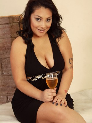 30 Yr Old Exotic Kiki Glides out of the girl Elegant Dress and  Opens Pinkish