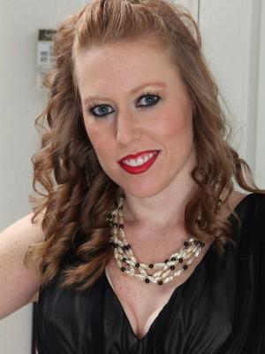 31 Yr Old Amber Carlisle Glides far from the girl Elegant Ebony Dress