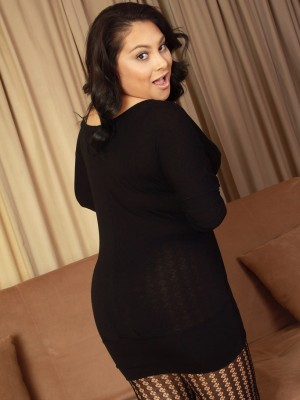 Chesty 30 yr old Kiki from  Milfs30  Undresses from Her Ebony Lace Here