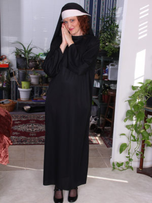 Cool Nun Roxanne Clemmens Has a fantastic Habit of Disrobing and Jacking