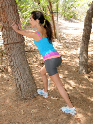 Exotic Sweetheart Bella G Jogs and  Undresses Inwards Woods