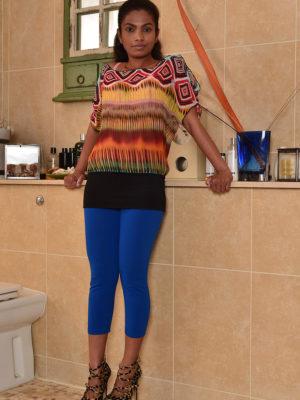 Exotic Bombshell Alishaaa Mae Bare in Kitchen