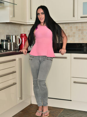 Chloe Lovette Naked into the Kitchen