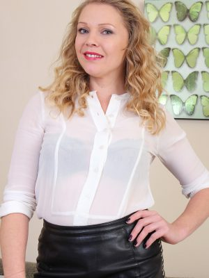 Sheer White Top on Abi Toyne