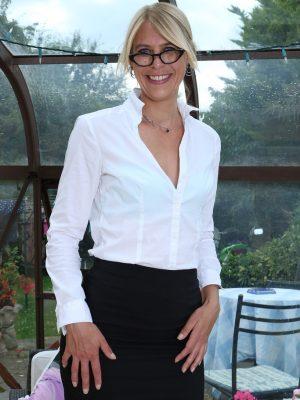 Sexy  Blond Secretary Jentina Petite