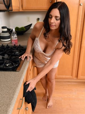 Mindi Mink Bare into the Kitchen Counter