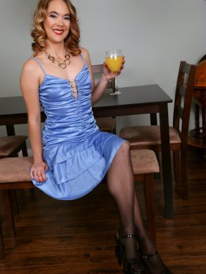 Quinn Adams Elegant Blue Dress