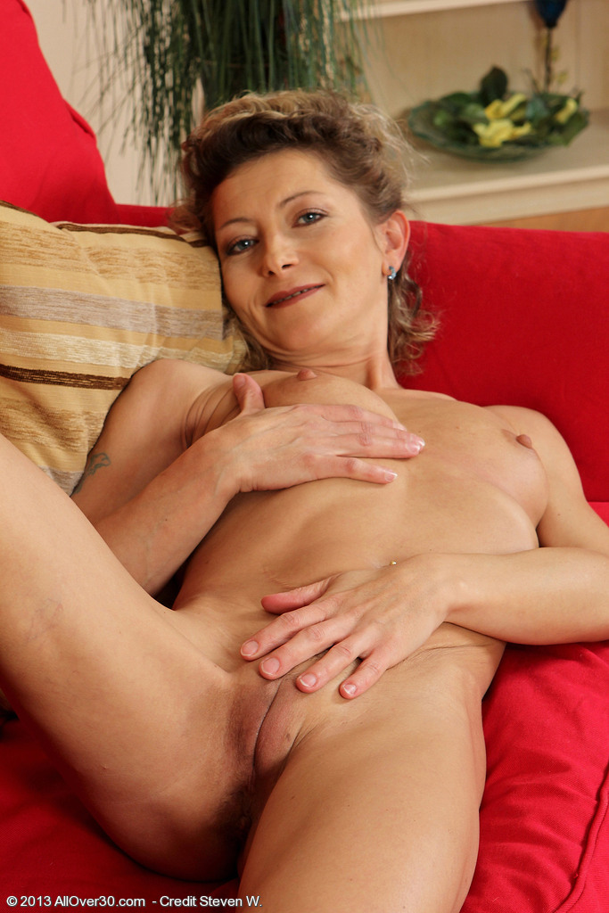 Slender and Older Babe Syndi Bell Tugs at Her Petite ...